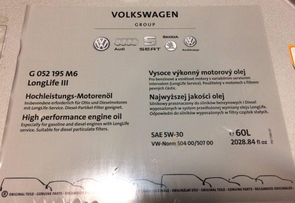Kodėl VW OEM 5w30 alyva nelaiko klampumo? Ką pasakytų garantinis?